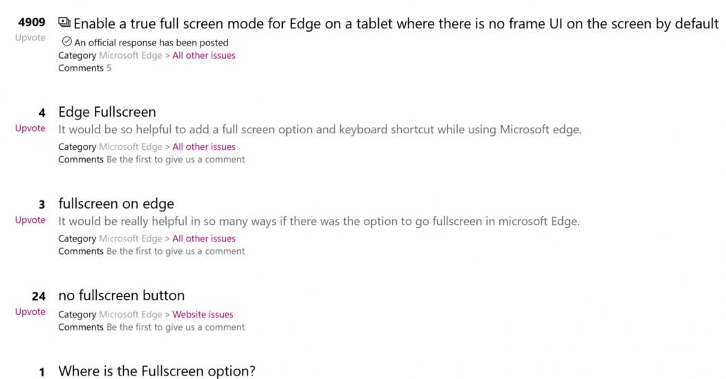 Microsoft Edge prepnete do režimu celej obrazovky pomocou ...
