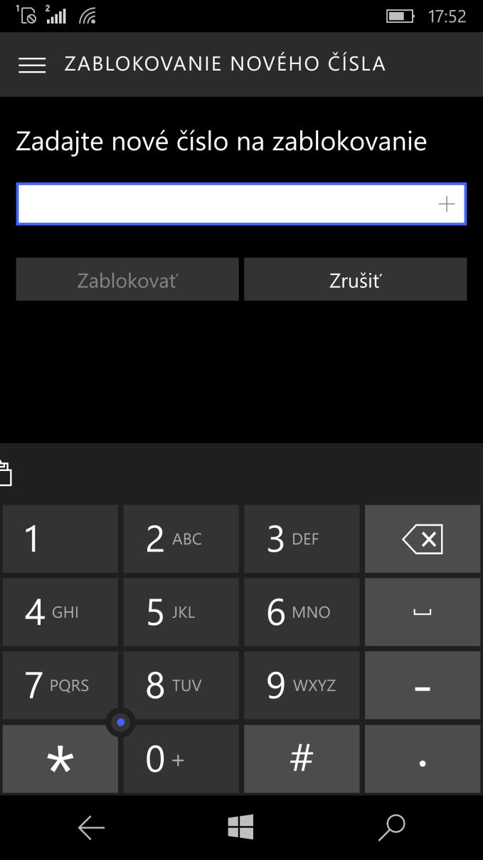 Blokovanie hovorov 2
