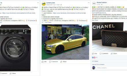 falošné súťaže Facebook